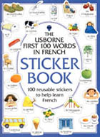 First 100 Words in French/Sticker Book