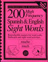 200 High Frequency Spanish & English Sight Words