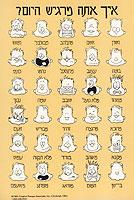Hebrew Feelings Postcard