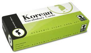 Korean Vocabulary Cards