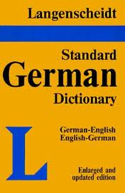 Langenscheidt Standard German Dict. - thumb indexed