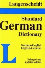 Langenscheidt Standard German Dict. - plain