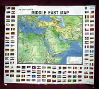 Map of Middle East Poster