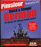 Pimsleur Quick & Simple German/Four CD's
