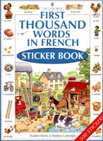 First 1000 Words in French Stickerbook