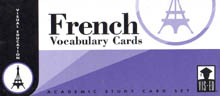 French Vocabulary Cards: Academic Study Card Set